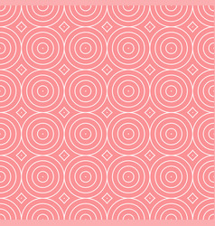 Seamless geometric pattern - abstract circles vector