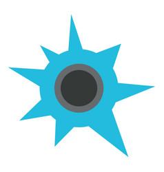 Shooting hole icon flat style vector