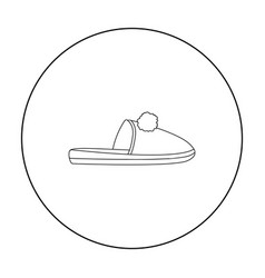 slippers icon in outline style isolated on white vector image