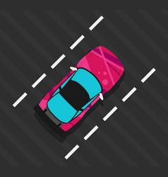 super sports car vector image