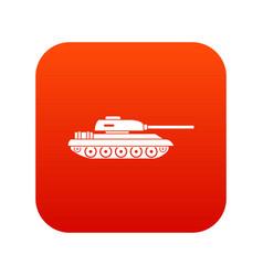 tank icon digital red vector image