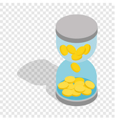 time is money isometric icon vector image