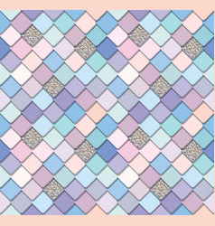 Trendy fresco mosaic seamless background in vector