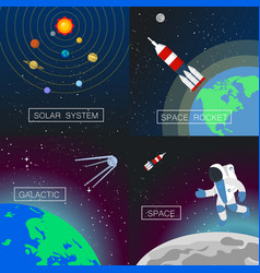 universe banner set flat style vector image