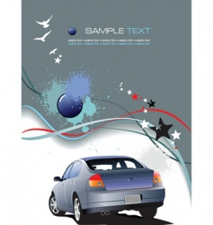 vehicle template background vector image