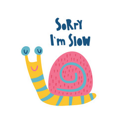 very slow snail vector image