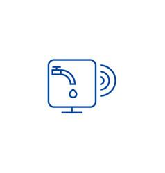 Water sensor line icon concept water sensor flat vector