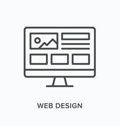 web design flat line icon outline vector image