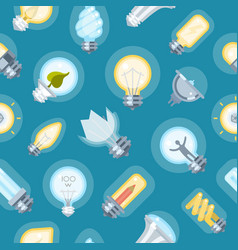 broken bulb lamp seamless pattern background vector image