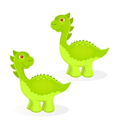 Cartoon dinosaur characters vector image