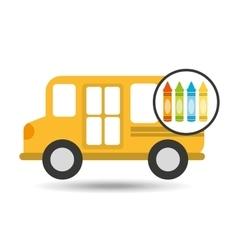 school bus icon crayons graphic vector image vector image
