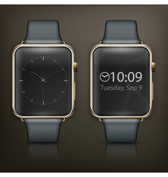 Two smart watch vector image vector image