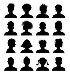 16 anonymous mugshots vector image vector image