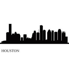 Houston city skyline silhouette background vector image