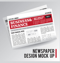 Realistic economic newspaper vector
