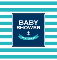 baby shower twins vector image vector image
