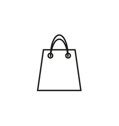 bag of shop icon vector image