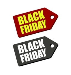 Black Friday Sales Tag Set vector image