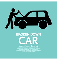 Broken Down Car vector image vector image