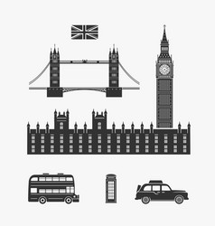 england london elements vector image vector image