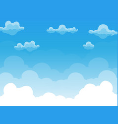 group of clouds on blue sky vector image vector image