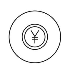 money sign coin yen vector image vector image