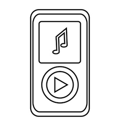 Music player icon outline style vector image vector image
