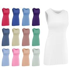 Plain women netball dress template vector image vector image