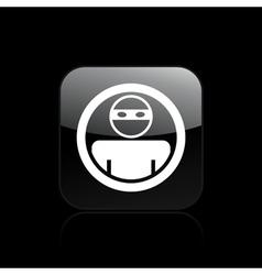 thief icon vector image vector image