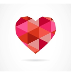 vintage geometric heart vector image