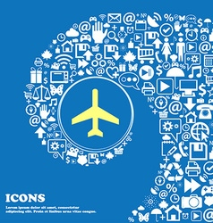 airplane sign symbol Nice set of beautiful icons vector image