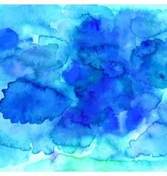 Blue watercolor texture in vector image