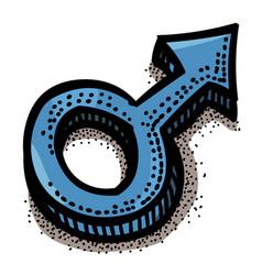 cartoon image of male symbol vector image