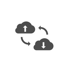 cloud data synchronization icon vector image vector image