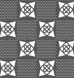 Geometrical Arabian ornament gray with doted vector image