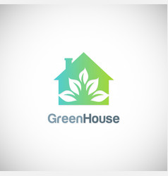 house green garden eco logo vector image