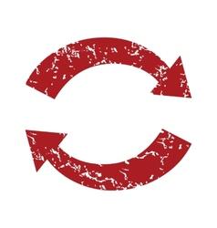 Red grunge reverse logo vector image