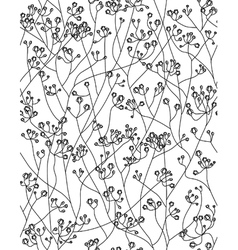 seamless floral pattern flowers of gypsophila vector image vector image