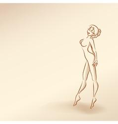 Silhouettes of woman in pastel tones3 5nov vector image vector image
