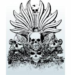 tribal skull grunge illustration vector image vector image