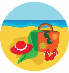 vacation and holiday at beach vector image vector image