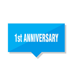 1st anniversary price tag vector