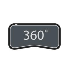 360 vr icon vector