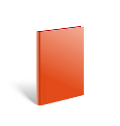 3d blank red book mockup paper book isolated on vector image