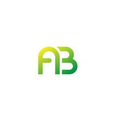 Ab monogram logo design vector