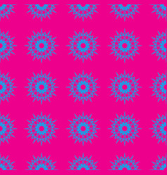 abstract pattern on the neon pink background vector image