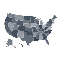 accurate correct usa map with separated states vector image