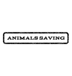 animals saving watermark stamp vector image