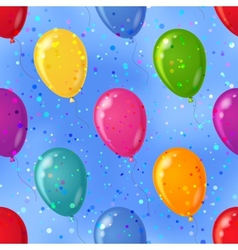 balloon seamless background in sky vector image
