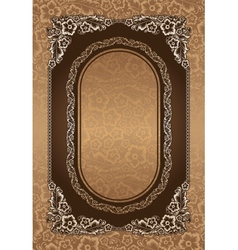 Beautiful floral on brown background vector